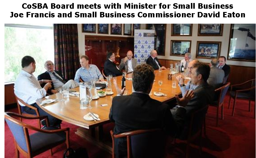 CoSBA Meets with Minister for Small Business