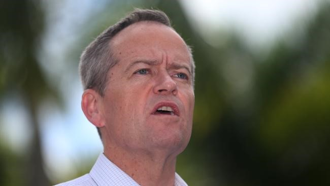 Opposition Leader Bill Shorten in Cairns yesterday. Picture: Stewart McLean