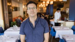 Restaurant manager Carlton Horn at the Raw Prawn in Cairns this week. Picture: Jason Edwards