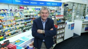 Tony Ferguson at his pharmacy in Penrith yesterday. Picture: Britta Campion